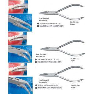 Instrumente pentru manevrat arcuri in ortodontia fixa